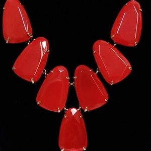 Kendra Scott Bright Red Harlow Necklace